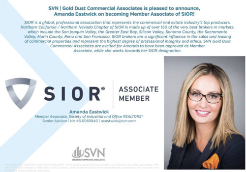 Senior Advisor Amanda Eastwick Joins the Society of Industrial and Office REALTORS®